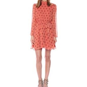 BB Dakota Tabitha Printed Long Sleeve Dress